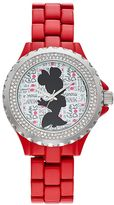 "Disney Disney's Minnie Mouse ""Glam Dots"" Women's Crystal Watch"