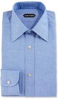 Tom Ford Slim-Fit Solid Dress Shirt, Blue