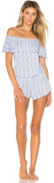 Eberjey Timba Off Shoulder Teddy in Blue. - size S (also in )