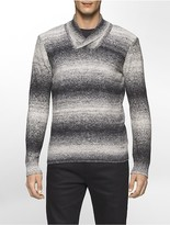 Calvin Klein Space-Dyed Shawl Neck Sweater