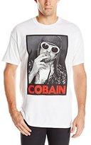 FEA Men's Kurt Cobain Smoking Black and White Photo T-Shirt