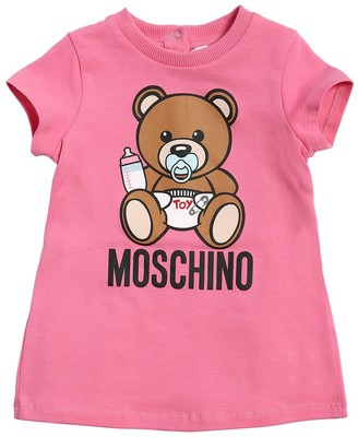 Moschino Logo Print Cotton Interlock Dress
