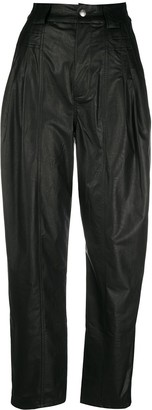 Koché Darted Leather Trousers