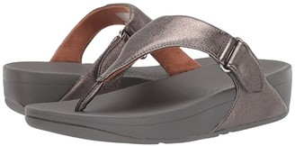 FitFlop Sarna Toe Thong Sandal (Pewter) Women's Shoes