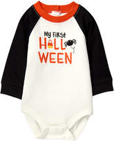 Gymboree White & Black 'My First Halloween' Raglan Harvest Bodysuit - Infant