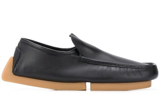Bottega Veneta Square-Toe Driving Shoes
