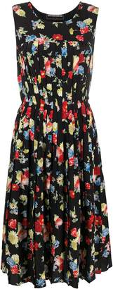 Ermanno Scervino Floral Pleated Dress