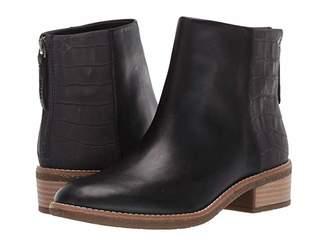 Sperry Maya Belle Leather/Croco (Black) Women's Zip Boots