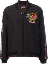 Roberto Cavalli embroidered cavalli cats bomber jacket - women - Silk/Cotton/Polyamide/Viscose - 38