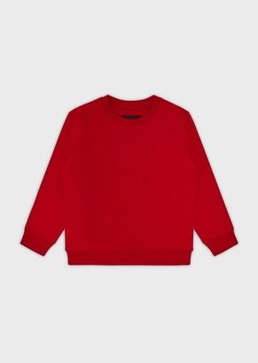 Emporio Armani Sweatshirt With Embossed Logo