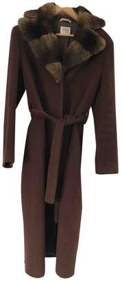 Gianfranco Ferre Brown Wool Coat for Women Vintage