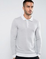 Reiss Long Sleeve Merino Polo