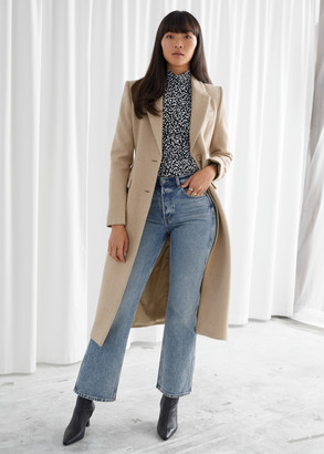 And other stories Hourglass Wool Blend Coat
