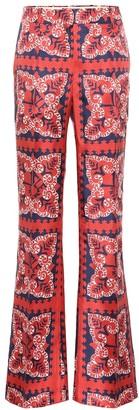 Valentino Mini Bandana silk twill pants