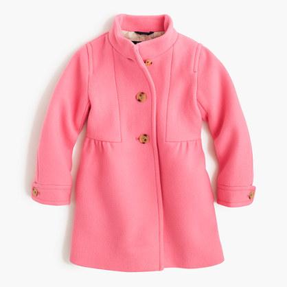 J.Crew Girls' stadium-cloth marquee coat