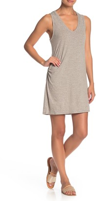 PST by Project Social T Ruched V-Neck Tank Dress