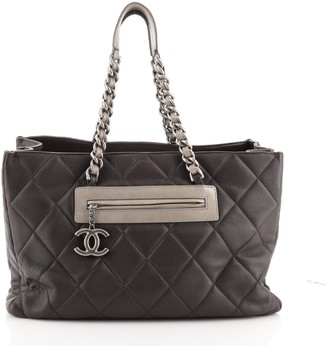 Chanel Coco Casual Tote Quilted Caviar Large