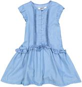 DKNY Light Wash Ruffle Drop-Waist Dress - Infant Toddler & Girls