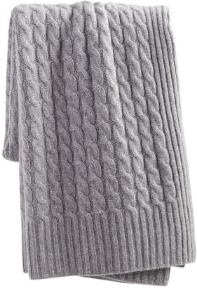 Sofia Cashmere sofiacashmere Sofiacashmere Classic Cable Cashmere Throw