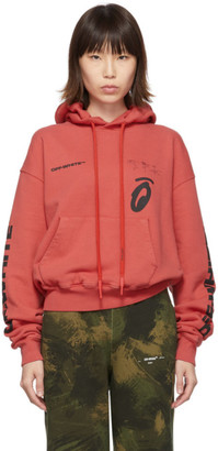 Off-White Red Splitted Arrows Over Hoodie