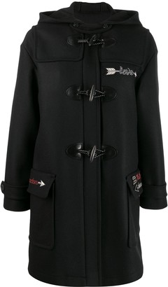RED Valentino embroidered duffle coat