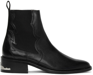 Toga Virilis Black Leather Chelsea Boots
