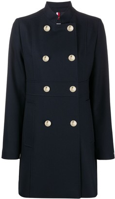 Tommy Hilfiger Double Breasted Slim Fit Coat