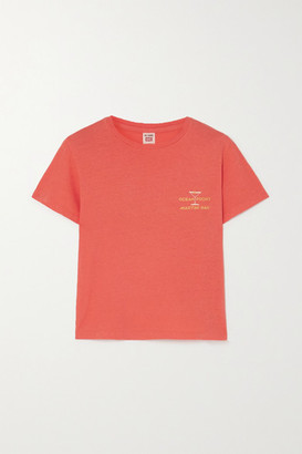 RE/DONE Printed Cotton-jersey T-shirt - Orange
