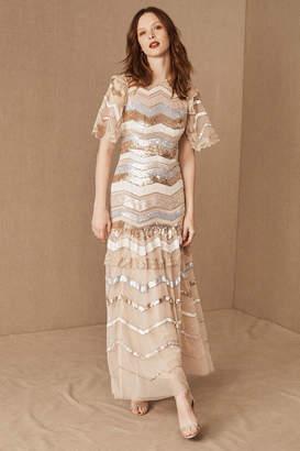 Anthropologie Needle & Thread Alaska Wedding Guest Dress