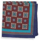 Eton Men's Medallion Wool & Silk Pocket Square