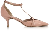 RED Valentino Nude Patent Leather Mid Heel Pump