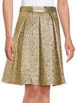 Eliza J Metallic A-Line Skirt