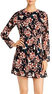 Vero Moda Wilma Floral Long Sleeve Short Dress