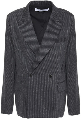 IRO Sira Double-breasted Pinstriped Wool And Silk-blend Blazer