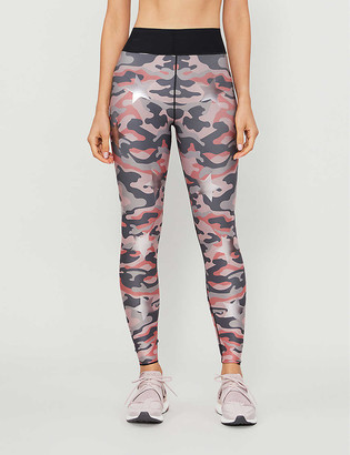 ULTRACOR Camouflage and star-print high-rise stretch-woven leggings