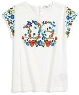 Dolce & Gabbana 'Majolica' Graphic Tee (Toddler Girls, Little Girls & Big Girls)