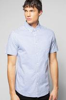 Boohoo Short Sleeve Horizontal Stripe Shirt