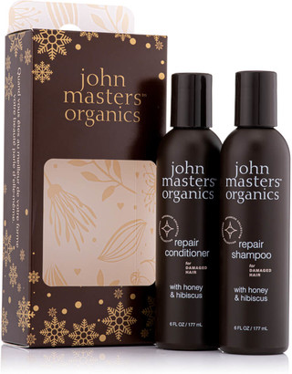 John Masters Organics Festive Gift Set Shampoo and Conditioner to Repair Dry & Damaged Hair (Worth 58.00)