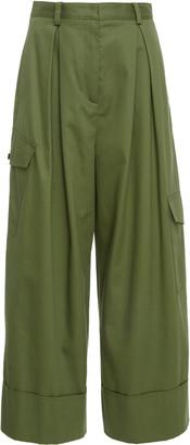 Tibi Harrison Chino Pleated Twill Cargo Pants