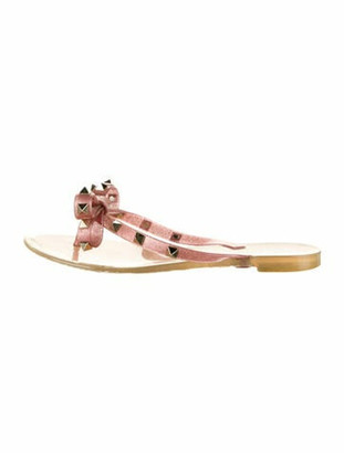 Valentino Rockstud Accents Studded Accents Sandals Pink