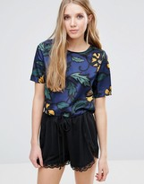 Glamorous Short Sleeve Floral Top