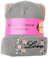 Betsey Johnson Roses & Thorns 2-Piece Beanie and Scarf Set