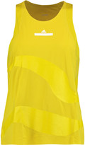 adidas by Stella McCartney Mesh-paneled stretch-jersey tank