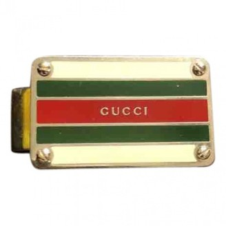 Gucci Silver Metal Belts