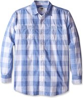 Lee Men's Big-Tall Textured Worker Button Down Shirt