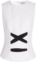 Balenciaga Ribbon-detail crepe top