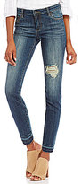 KUT from the Kloth Reese Ankle Straight Slight Destruction Detail Jeans
