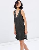 Polo Ralph Lauren Silk-Trim Sleeveless Dress