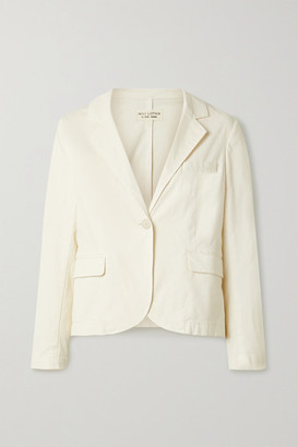 Nili Lotan Brad Cropped Cotton-blend Twill Blazer - Ivory