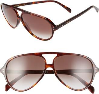 Celine 61mm Aviator Sunglasses